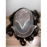 peruca masculina de silicone